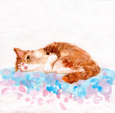 Painting - Cheeky Cat by Yumi Kudo