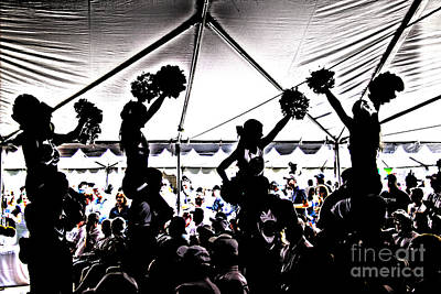 Psu Photograph - Cheer Silhouette by Tom Gari Gallery-Three-Photography