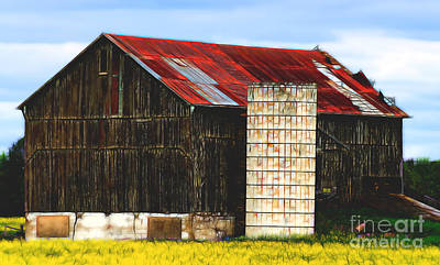 Photograph - Cheerful Barn by Les Palenik
