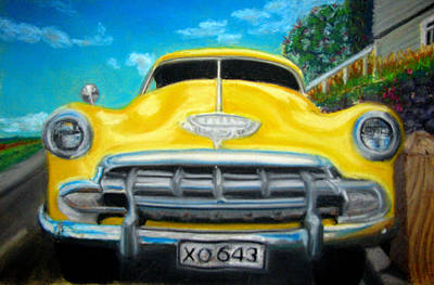 Painting - Cheerful Chevy by Amber Nissen