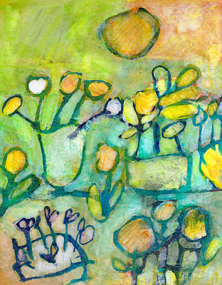 Mixed Media - Cheerful Garden by Catherine Redmayne