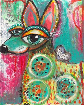 Cheers Mixed Media - Cheerhuahua by Aimee Wheaton