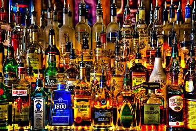 Bar Scene Photograph - Cheers - Alcohol Galore by David Patterson