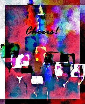Wine Painting - Cheers by Lisa Kaiser