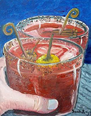 Bloody Mary Painting - Cheers by Sandi Ragg