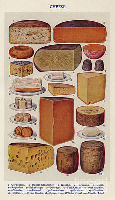 Cheese 1900s Uk Isabella Beeton  Mrs Art Print by The Advertising Archives