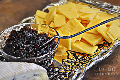 Photograph - Cheese And Jelly On Silver Tray by Valerie Garner