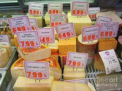 Photograph - Cheese Display by James B Toy