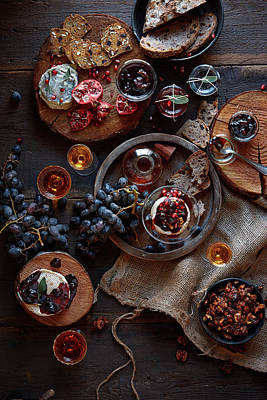 Photograph - Cheese, Jams, And Wine by Lew Robertson