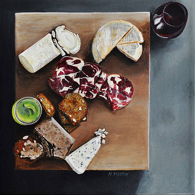 Food Painting - Cheese Please by Heidi Martin