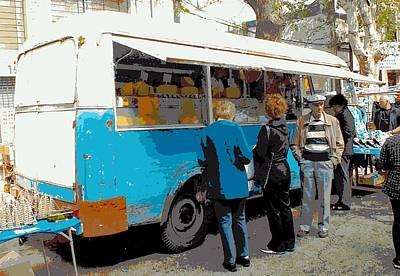 Local Food Digital Art - Cheese Van by Tg Devore