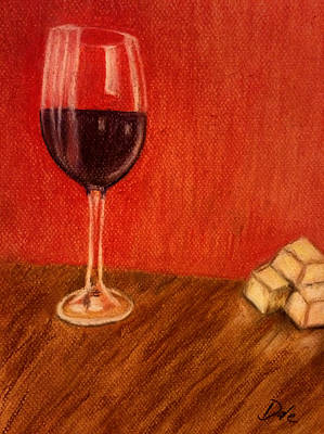 Stemware Painting - Cheese With Your Wine by Dale Bradley