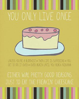 Cheesecake Painting - Cheesecake by Lisa Barbero