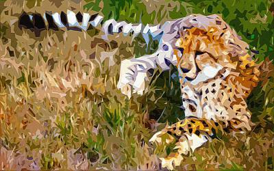 Sprinter Digital Art - Cheetah 2 by Brian Stevens