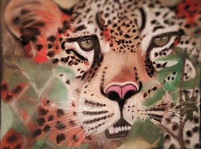 Cheetah In The Grass Art Print