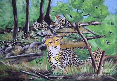 The Tiger Painting - Cheetah by Reba Baptist