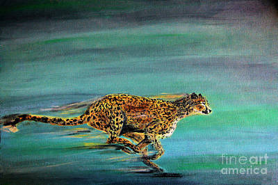 Cheetah Painting - Cheetah Run by Nick Gustafson