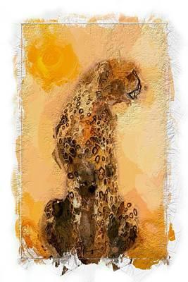 Cheetah Digital Art - Cheetah by Steve K