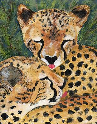 Painting - Cheetahs by Amanda Balough