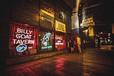 Cheezborger Cheezborger At Billy Goat Tavern Art Print