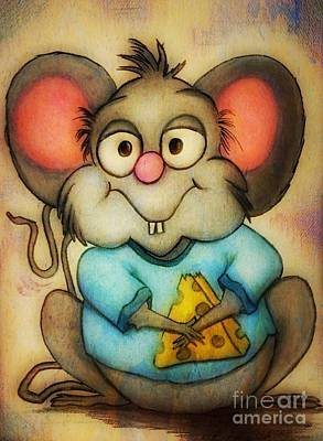 Painting - Cheeze  by Vickie Scarlett-Fisher