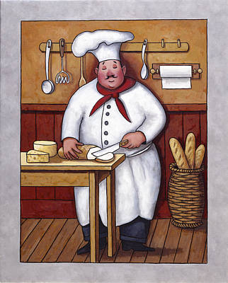 Chef 3 Art Print by John Zaccheo