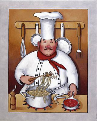 Chef 4 Art Print by John Zaccheo