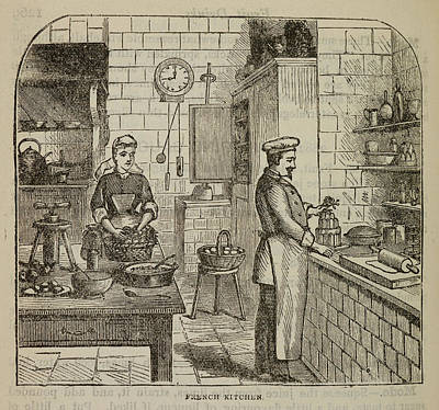 Revising Photograph - Chef At The Stove by British Library