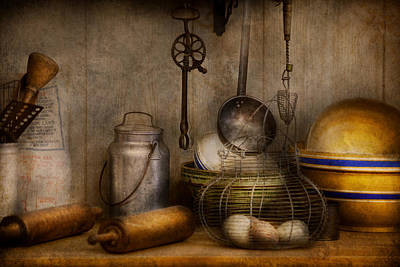 Ladles Photograph - Chef - Ingredients - Breakfast At Grandpa's by Mike Savad