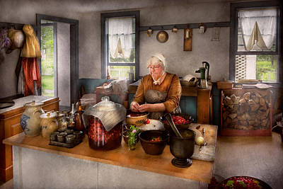 Kitchen Photograph - Chef - Kitchen - Cleaning Cherries  by Mike Savad