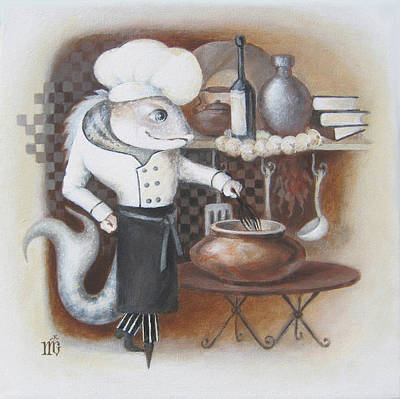 Chef Art Print by Marina Gnetetsky