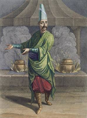 Istanbul Drawing - Chef To The Grand Seigneur, Topkapi by French School