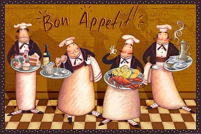 Chefs Bon Appetit Art Print
