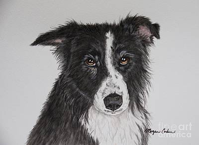 Dog Painting - Chelsea After A Bath by Megan Cohen