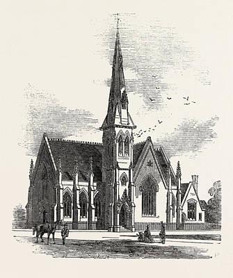 Chelsea New Congregational Church, Markham Square Art Print by English School