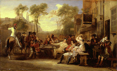 Tankard Painting - Chelsea Pensioners Receiving The Gazette Announcing by Litz Collection