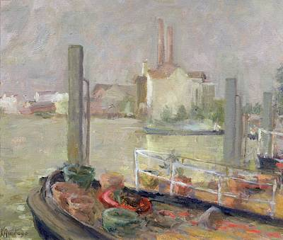 Pollution Painting - Chelsea Reach by Karen Armitage