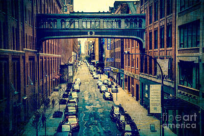 Chelsea Street As Seen From The High Line Park. Art Print by Amy Cicconi