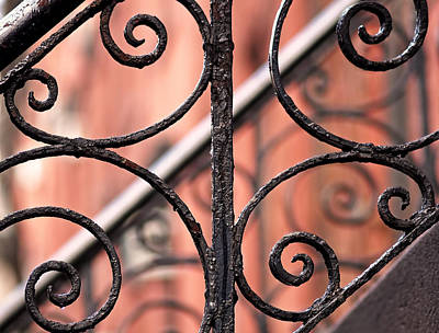 Horizontal Photograph - Chelsea Wrought Iron Abstract by Rona Black