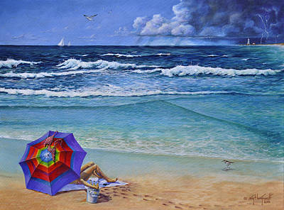 Painting - Chelsey's Umbrella by Craig T  Burgwardt