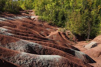 Georgia Red Clay Photograph - Mars On Earth - Cheltenham Badlands Ontario Canada by Georgia Mizuleva