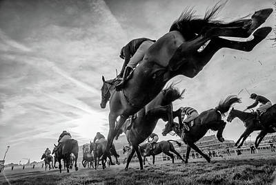 Horse Racing Photograph - Cheltenham Jumps Festival by Sharon Lee Chapman