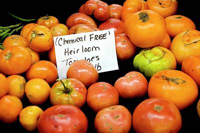 Chemical Photograph - Chemical-free Tomatoes by Jim West
