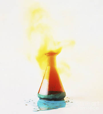 Photograph - Chemical Reaction by Clive Streeter and Dorling Kindersley