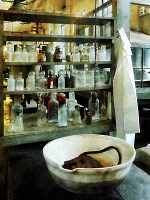 Photograph - Chemist - Cruicible And Lab Coat by Susan Savad