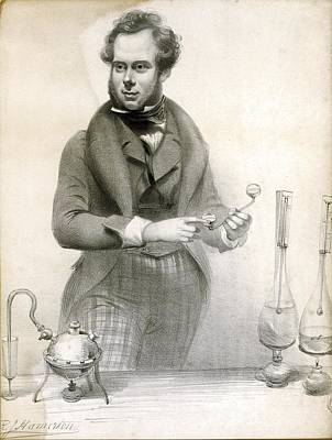 Oil Burner Photograph - Chemistry Experiment, 19th Century by Science Photo Library