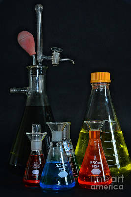 Doctor Photograph - Chemistry Flasks by Paul Ward
