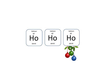 Chemistry - Ho Ho Ho Holly Art Print