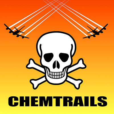 Chemtrails Digital Art - Chemtrail Hazard by Daniel Hagerman