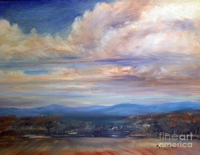 Painting - Chenango River Valley by Sally Simon
